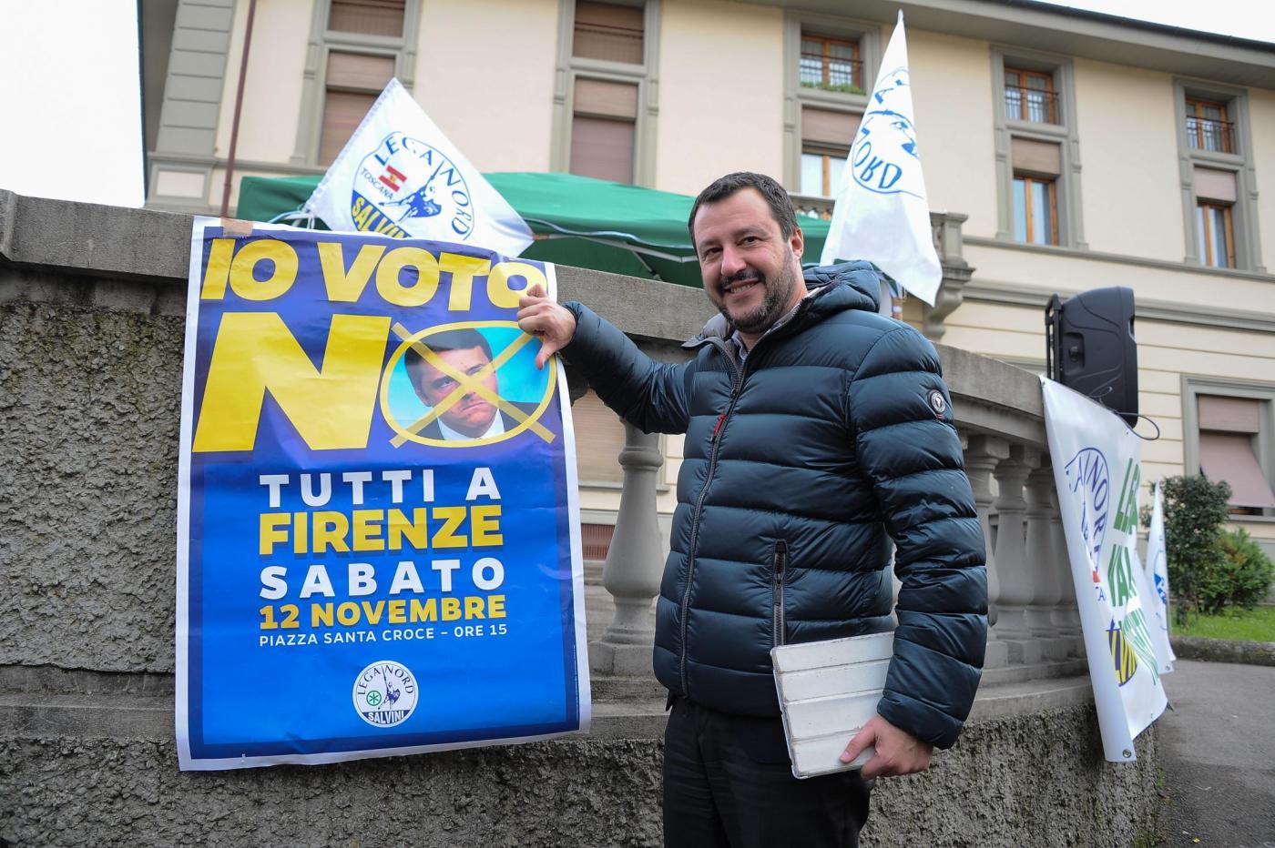 Matteo Salvini per il NO al referendum costituzionale