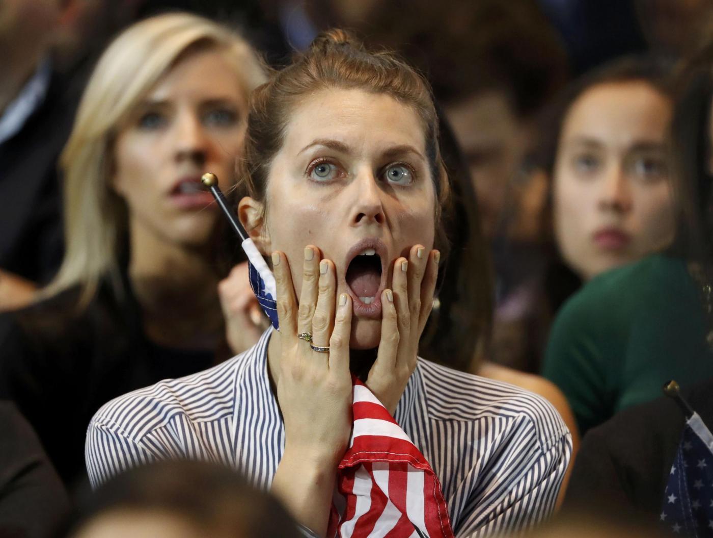 Usa 2016, i sostentori di Hillary Clinton a New York in attesa del risultato
