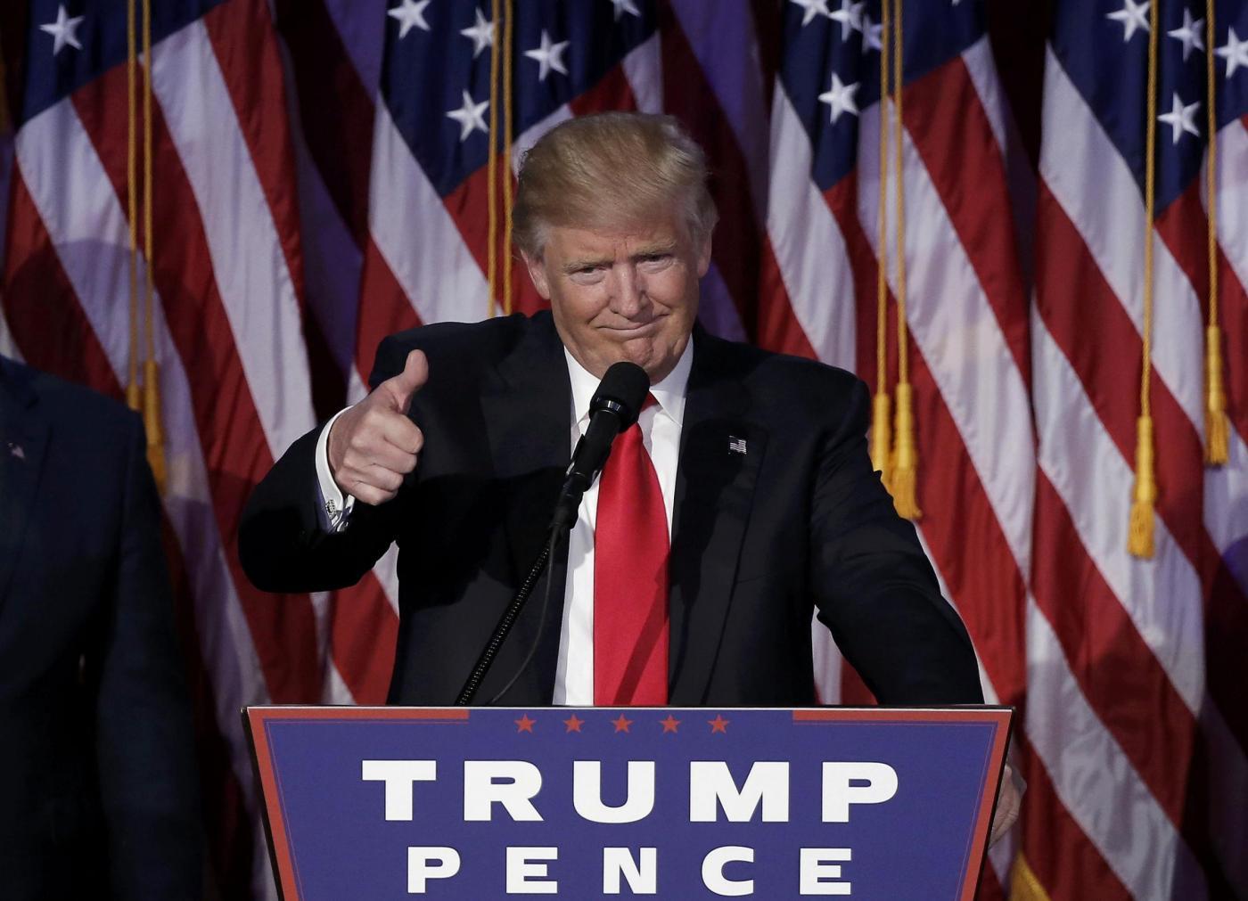 Usa 2016, Donald Trump presidente Stati Uniti: il suo primo discorso