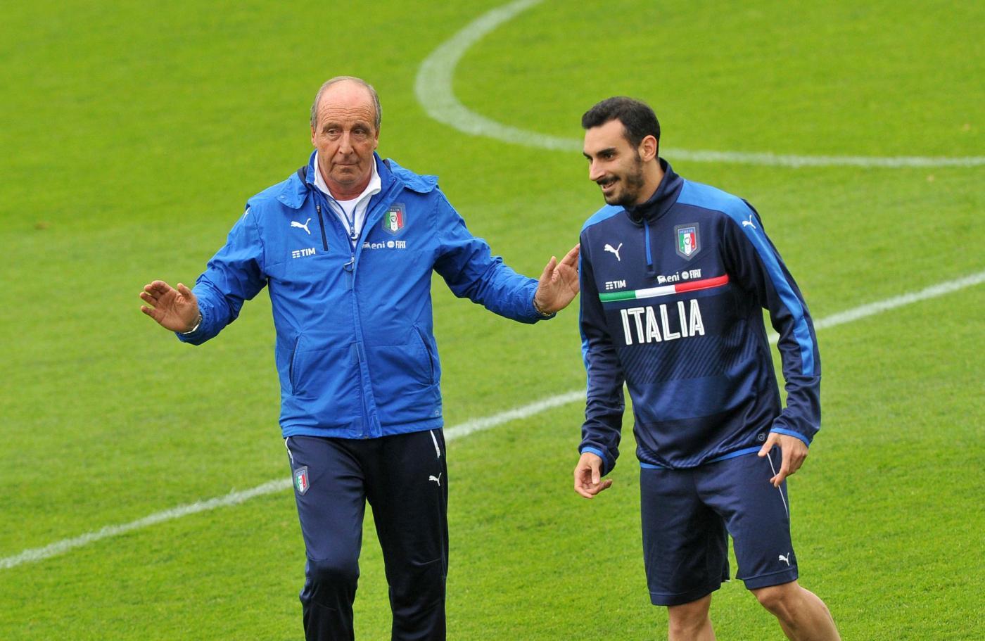 Coverciano, l'allenamento della Nazionale Italiana di calcio