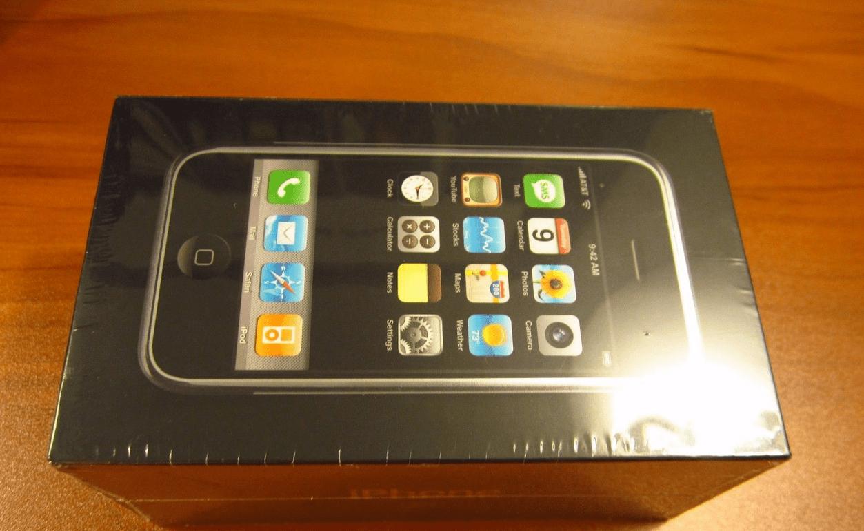 Confezione sigillata primo iPhone
