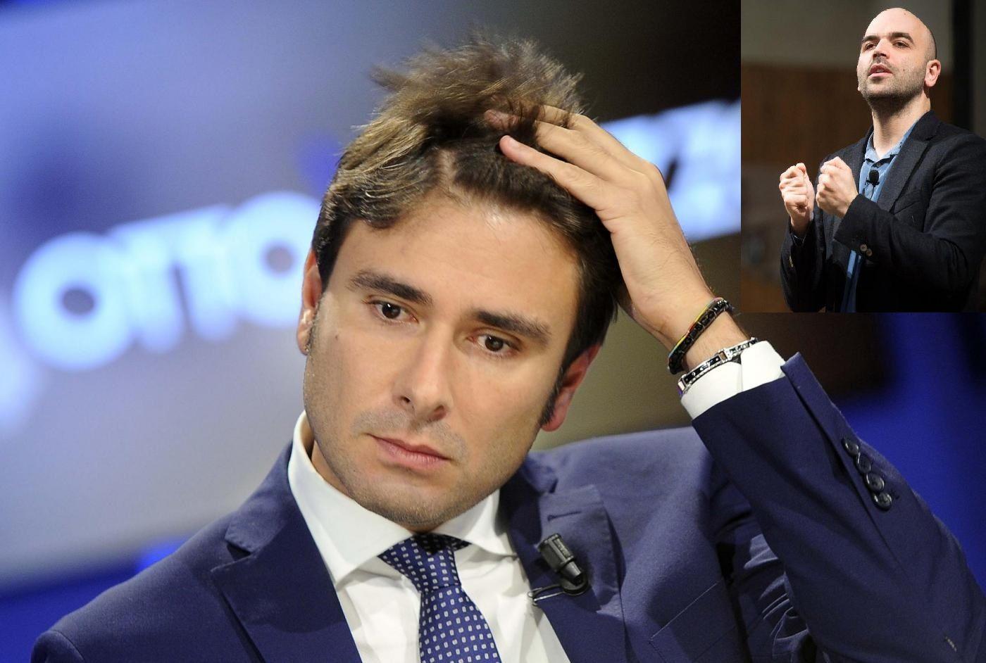 Alessandro Di Battista e Roberto Saviano