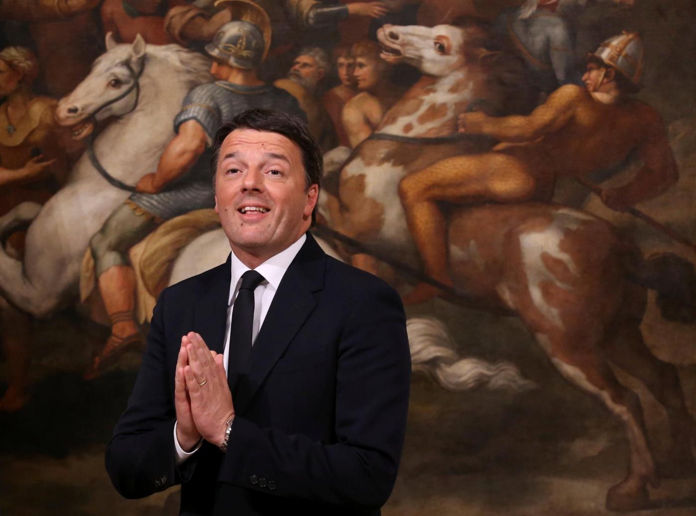 Pontassieve: l'ex Premier Renzi, fa la spesa al supermercato