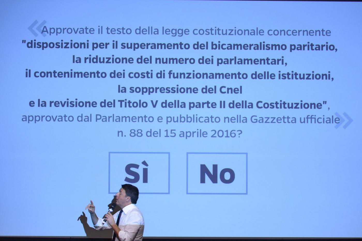 Basta un Si, Renzi a Torino