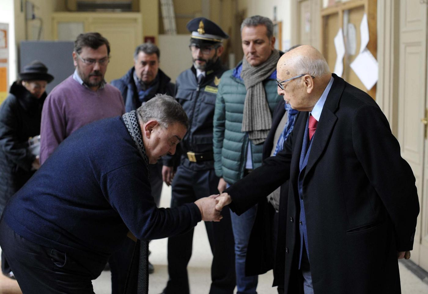 Referendum: Giorgio Napolitano al voto