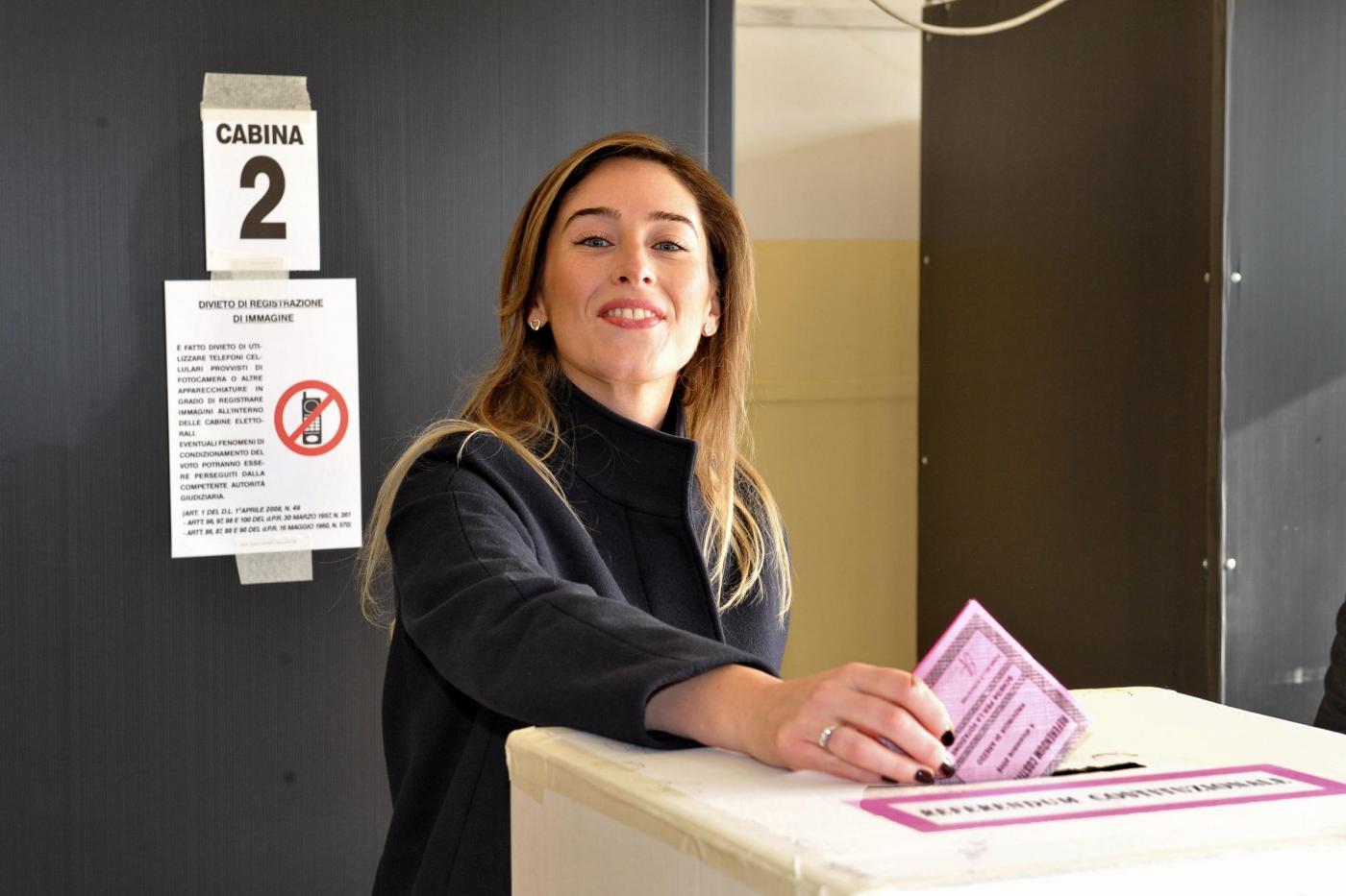 Referendum: Maria Elena Boschi al voto