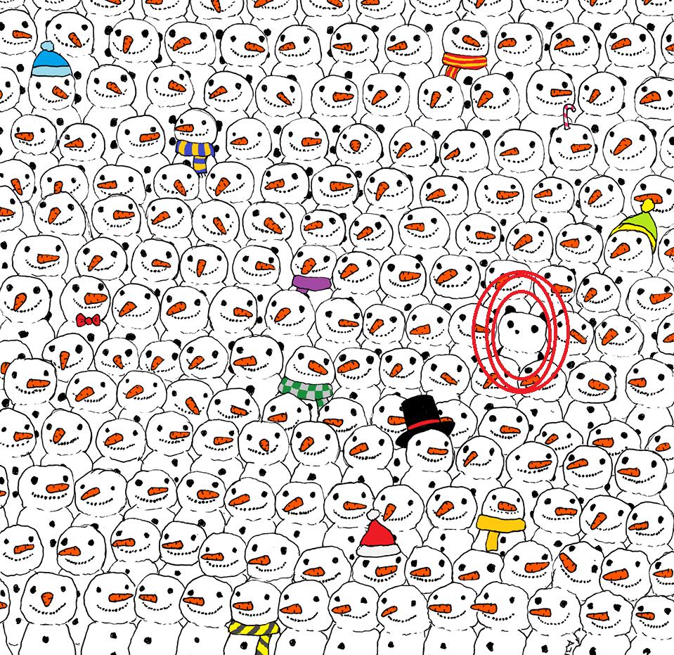panda pupazzi neve natale puzzle quiz soluzione