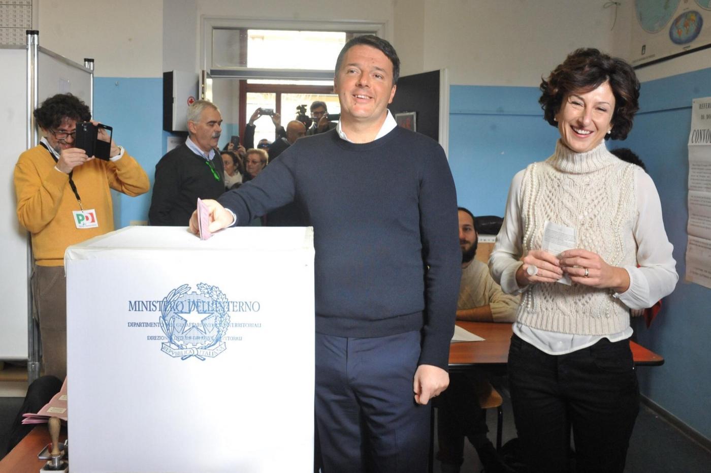 Referendum: Matteo Renzi e Agnese Landini al voto