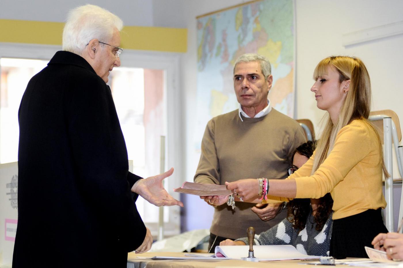 Referendum: Sergio Mattarella al voto