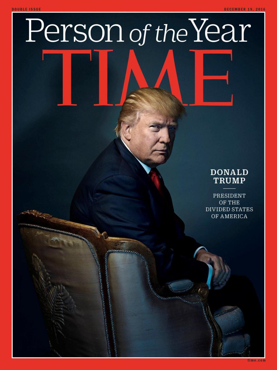 """Donald Trump è la """"Persona dell'anno"""" per Time"""