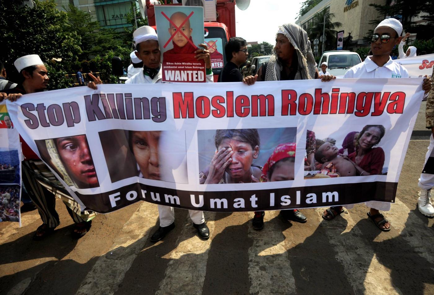 INDONESIA JAKARTA MIGRANTS PROTEST