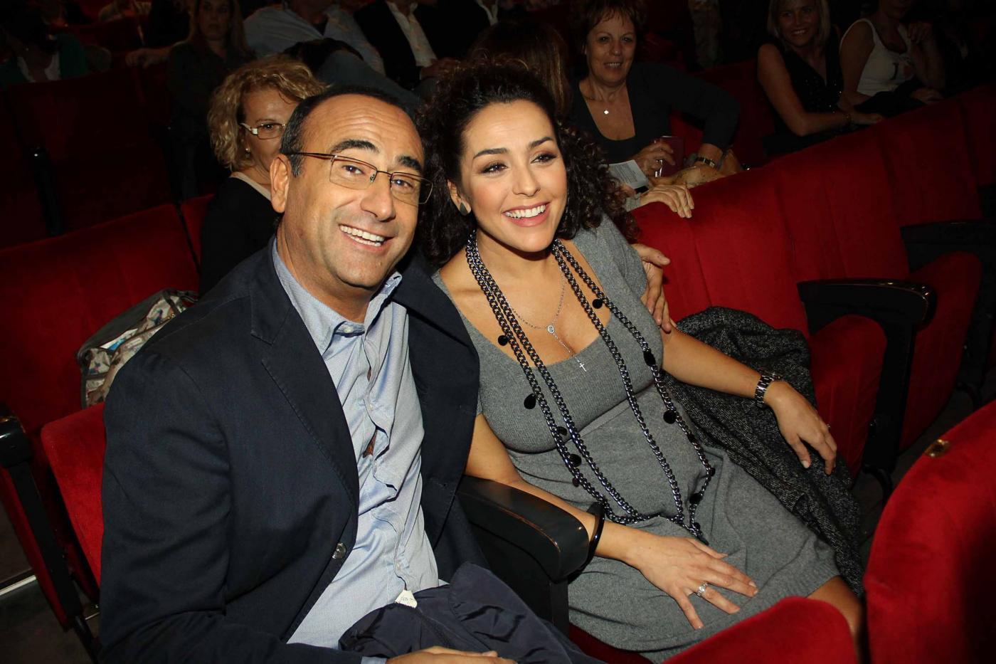 Carlo Conti con la moglie Francesca Vaccaro