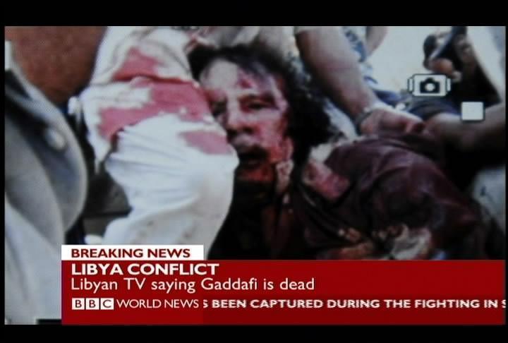 Le immagini del corpo del Colonnello Gheddafi