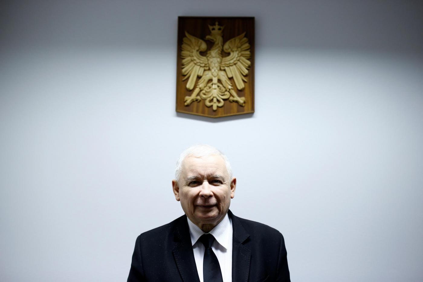 Jaroslaw Kaczynski intervisato dalla Reuters a Varsavia