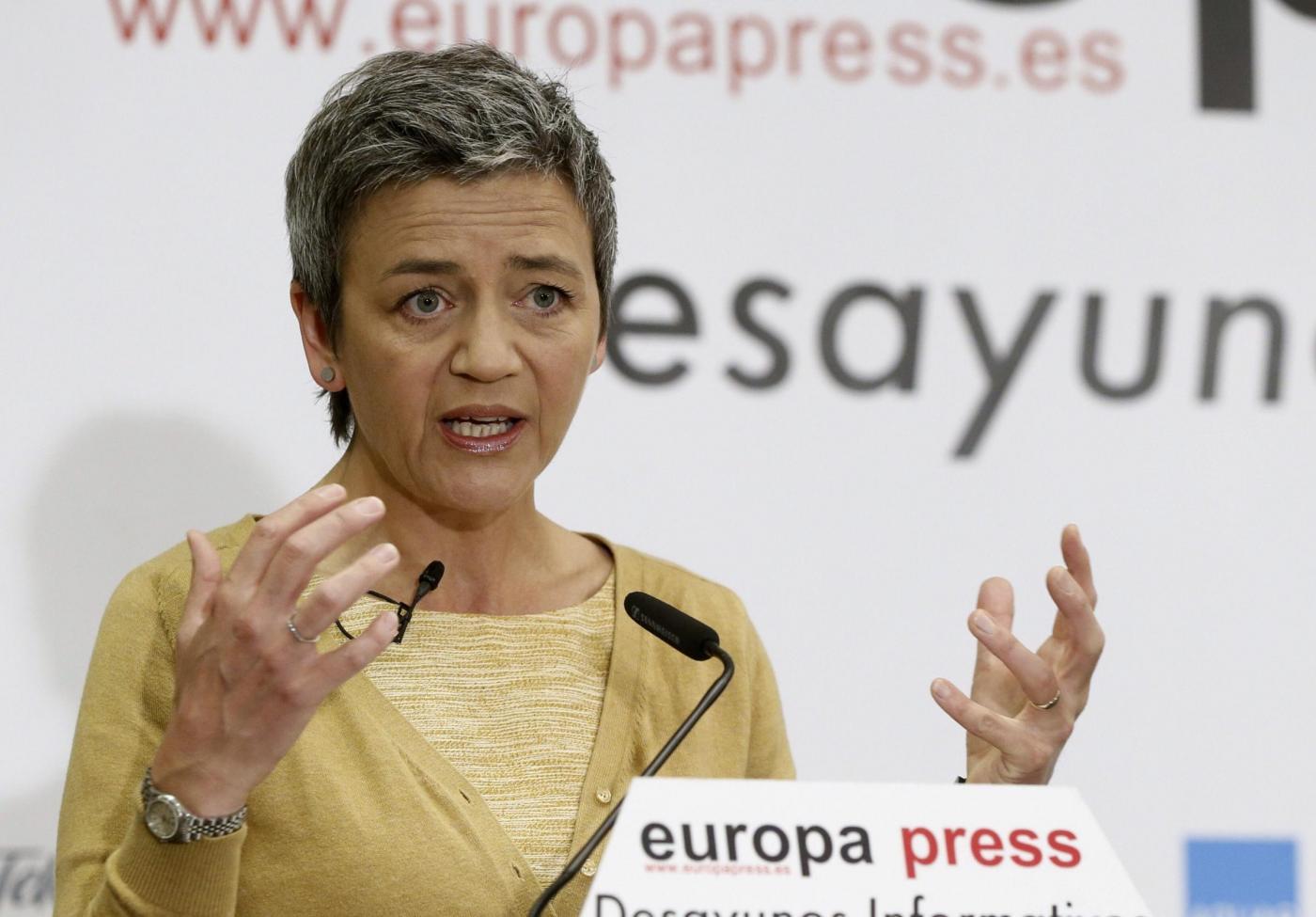EU COMMISSIONER OF COMPETITION MARGRETHE VESTAGER IN MADRID