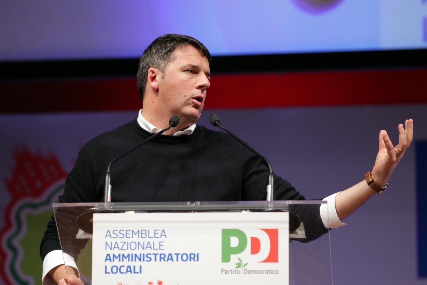 Rimini, Matteo Renzi all'assemblea degli amministratori del PD