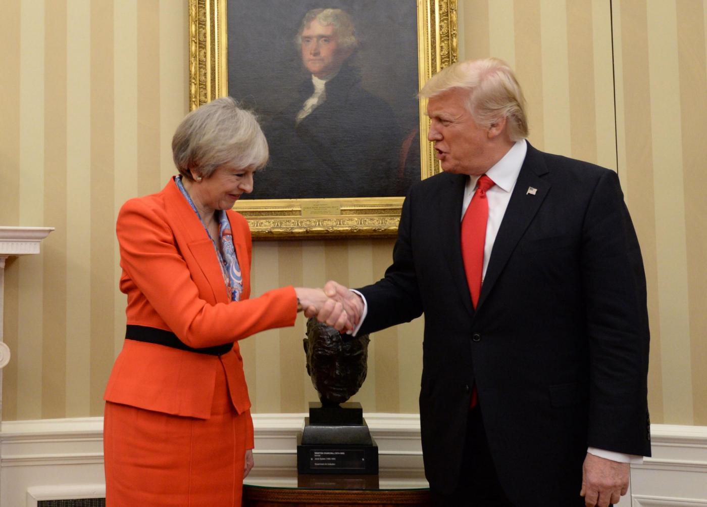 Trump incontra la May: «La Brexit è una cosa meravigliosa»