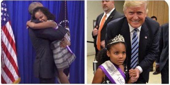 Trump e Obama differenze la bimba