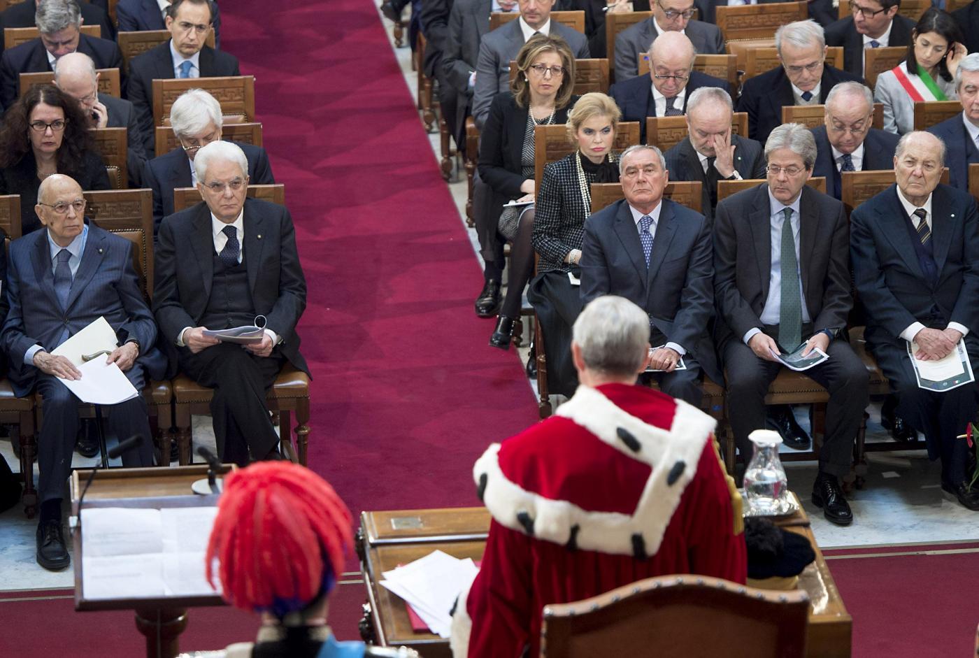 Il presidente Mattarella all'inaugurazione dell'anno giudiziario