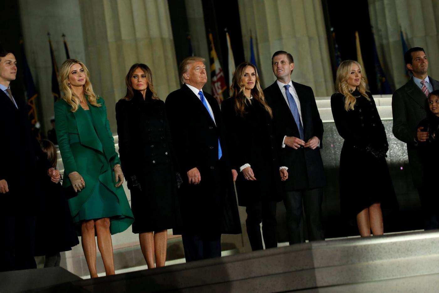 Washington, la famiglia Trump al concerto Make America Great Again