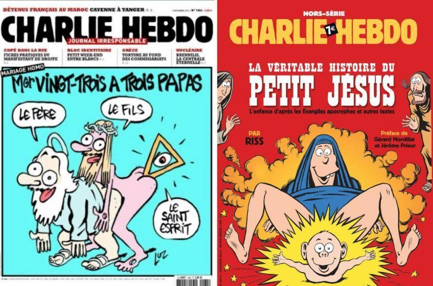 Vignetta di Charlie Hebdo su Gesù