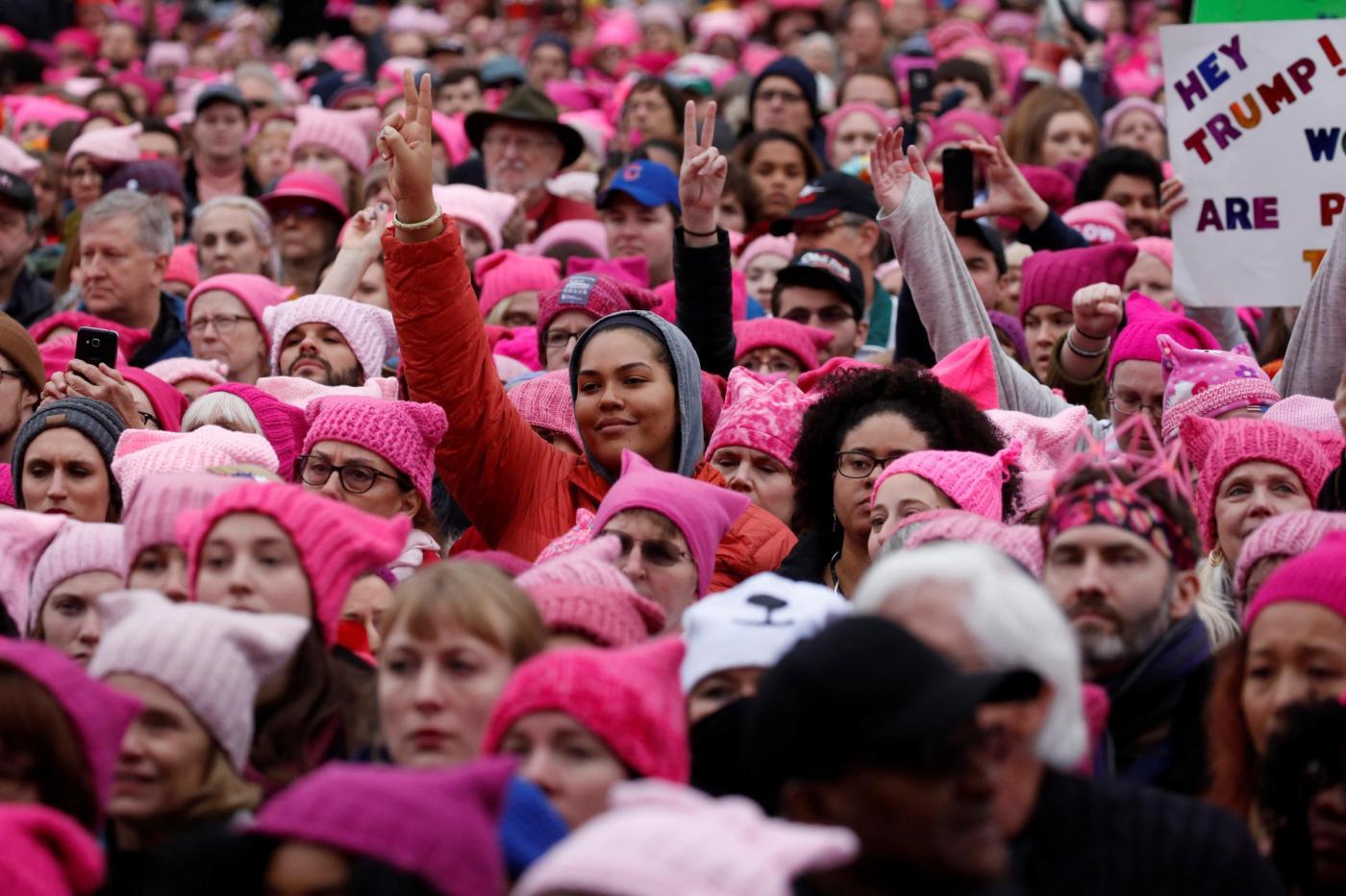 Trump, donne in marcia contro il presidente a Washington