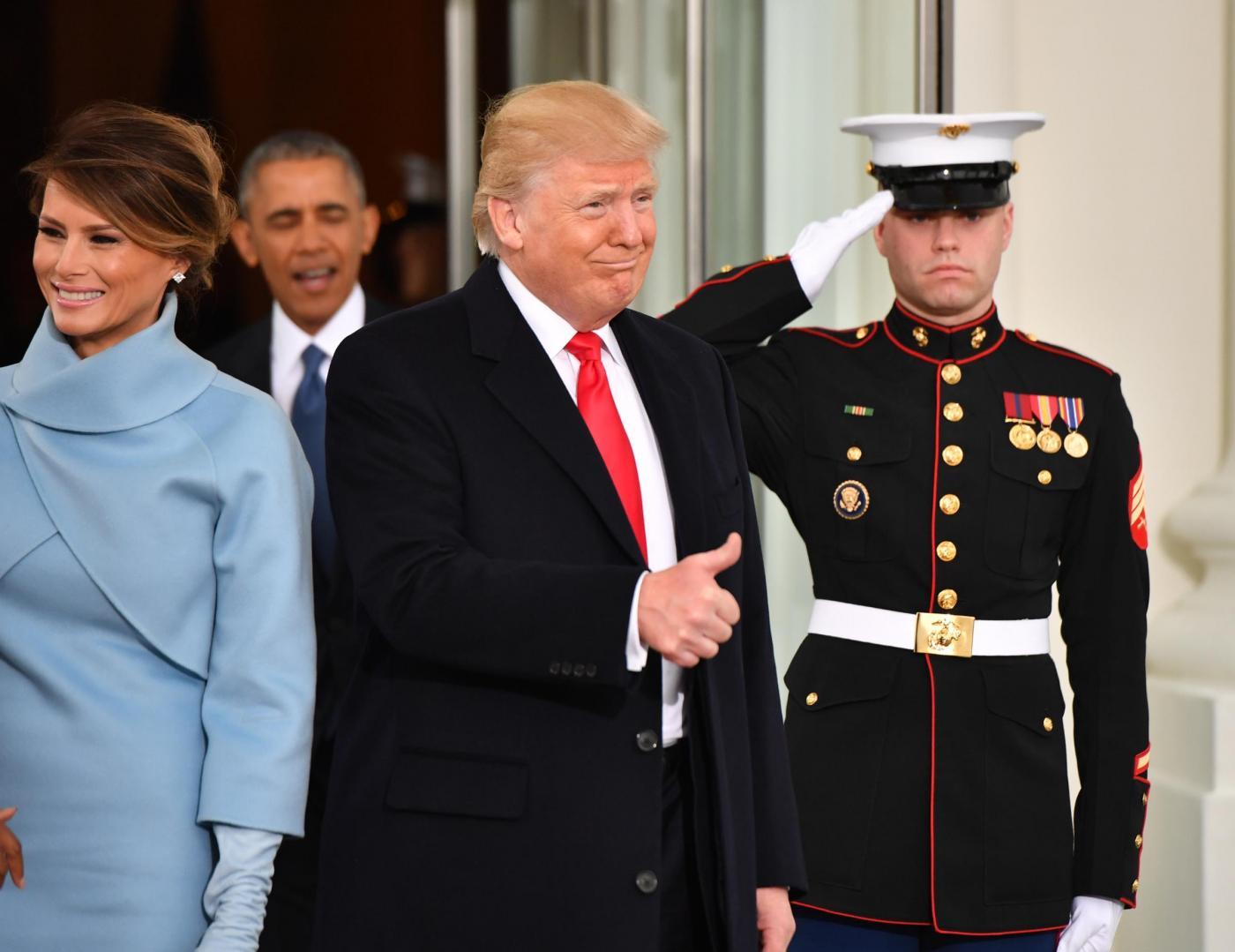 Obama alla cerimonia del passaggio di consegne a Donald Trump