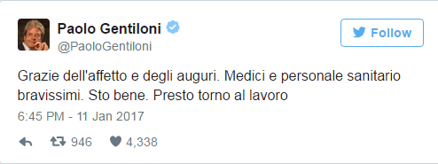 tweet gentiloni