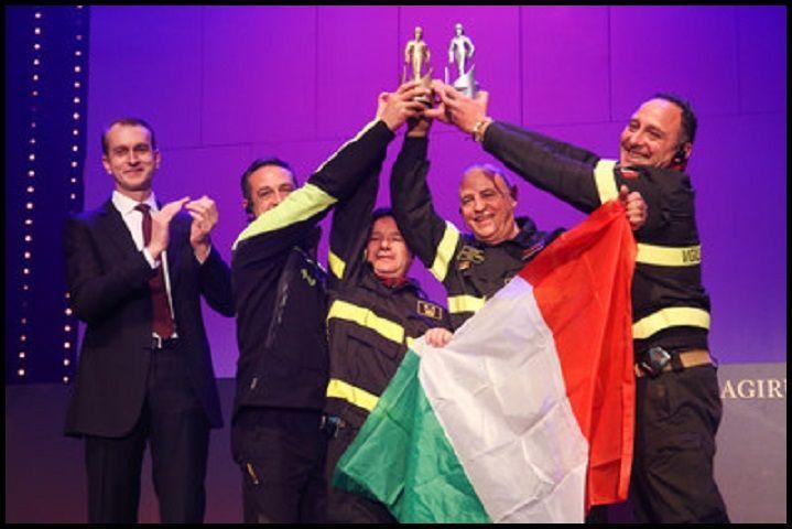 Vigili del Fuoco italiani premiati come Miglior Team di tutto il mondo