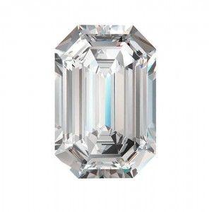 2 Diamante taglio Smeraldo