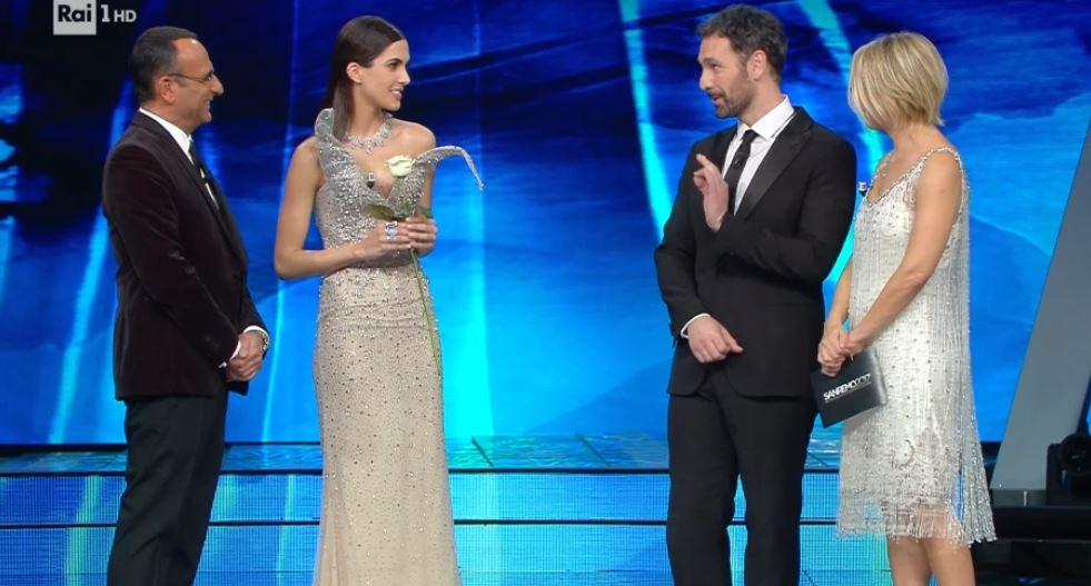 Raoul Bova e Rocío Muñoz Morales al Festival di Sanremo 2017