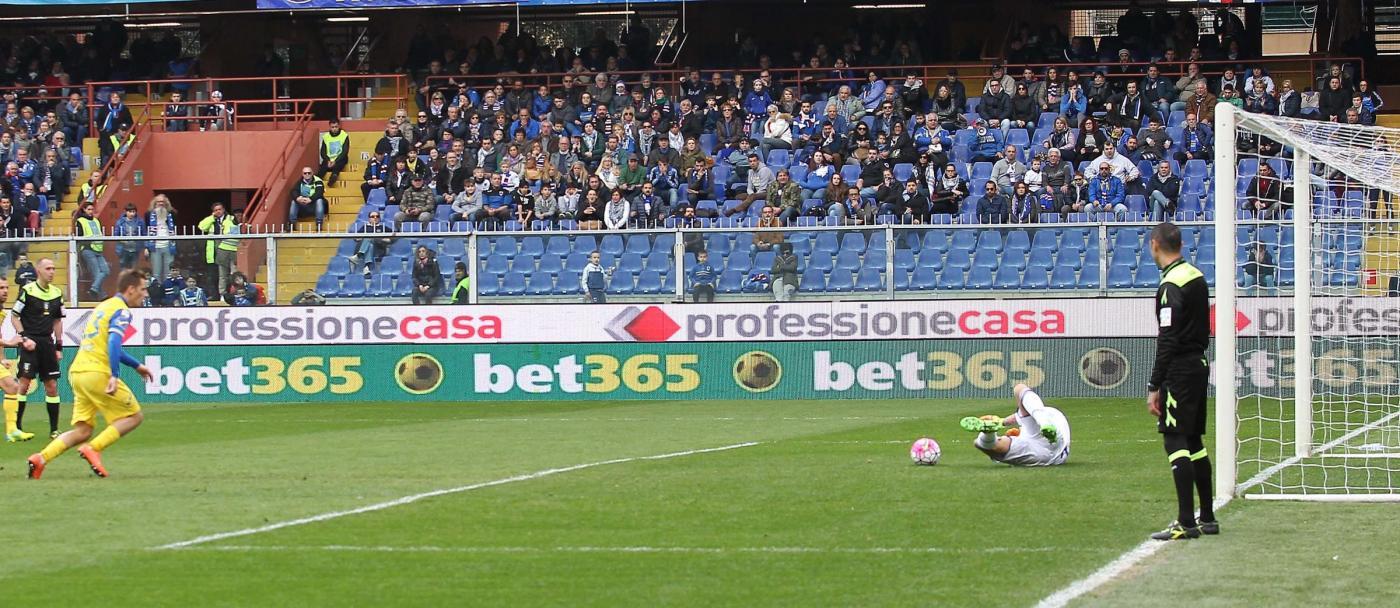 Sampdoria -Chievo Verona, il Chievo sbaglia il rigore