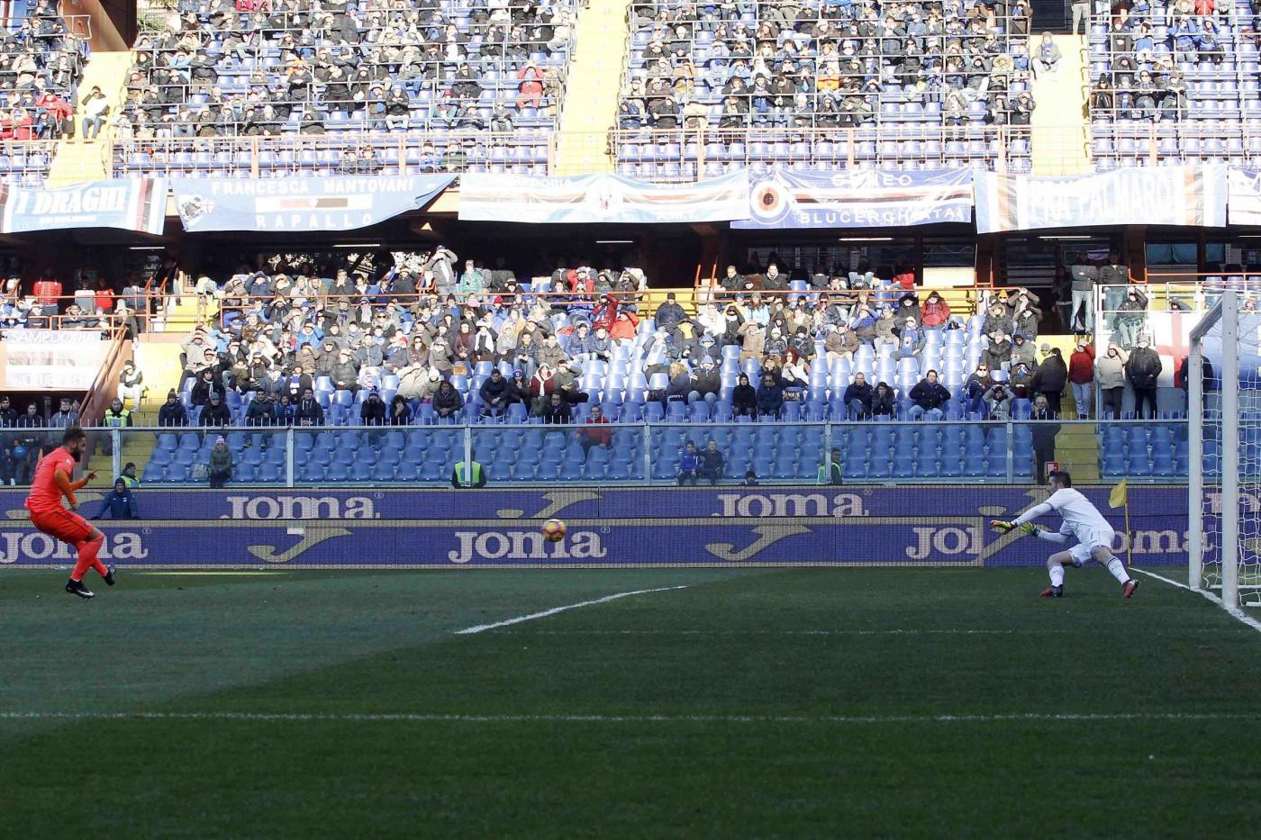 Sampdoria vs Empoli rigore sbagliato Michelidze
