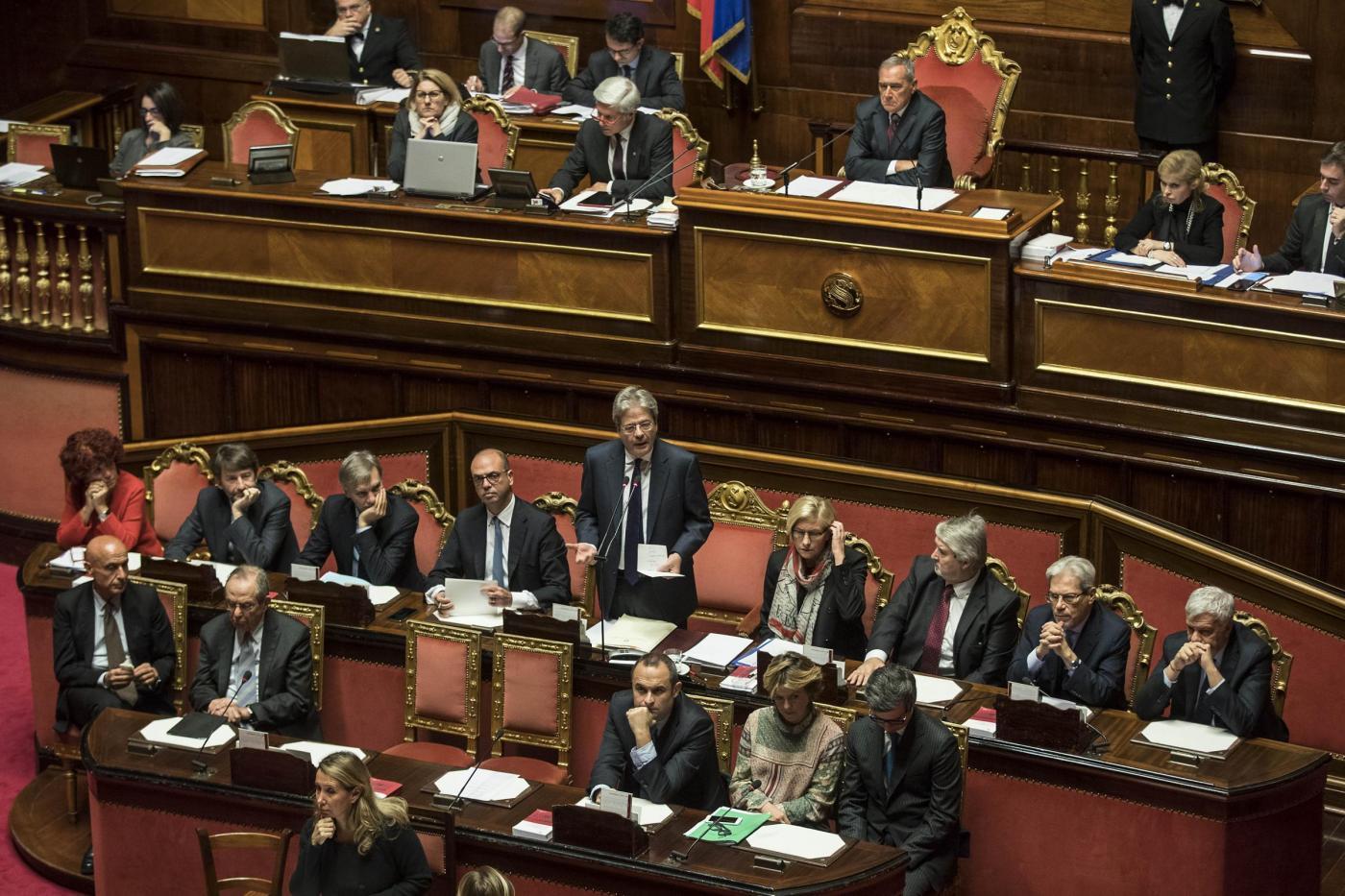 Senato Voto di fiducia al governo Gentiloni