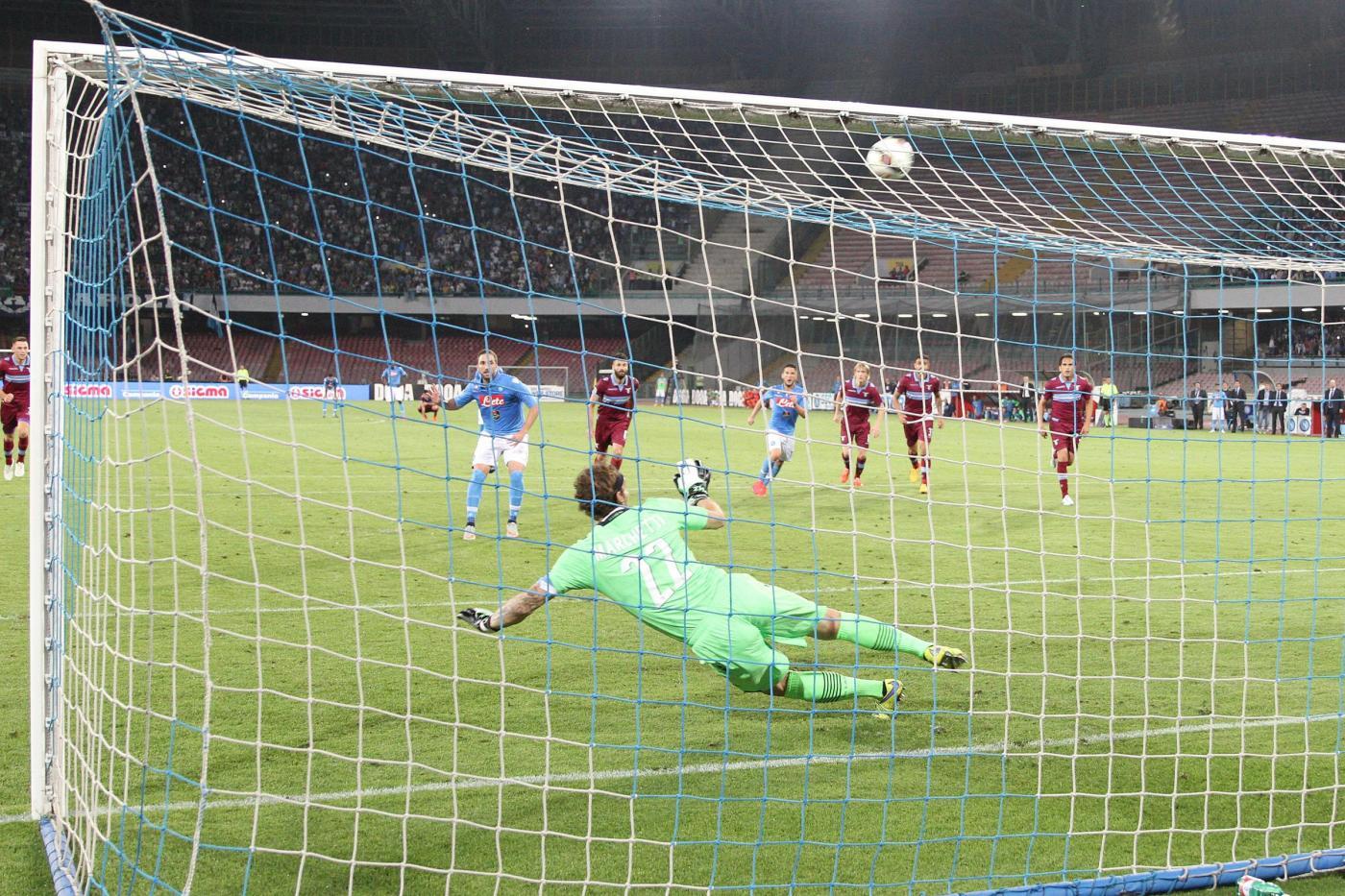 Napoli vs Lazio, Napoli sbaglia il rigore