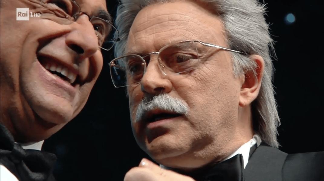 Sanremo 2017, Maurizio Crozza imita Antonio Razzi nell'ultima copertina comica