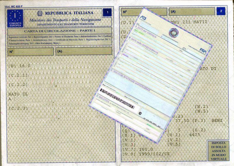 Abolizione carta di circolazione e certificato di proprietà: il foglio unico arriva dal 2018