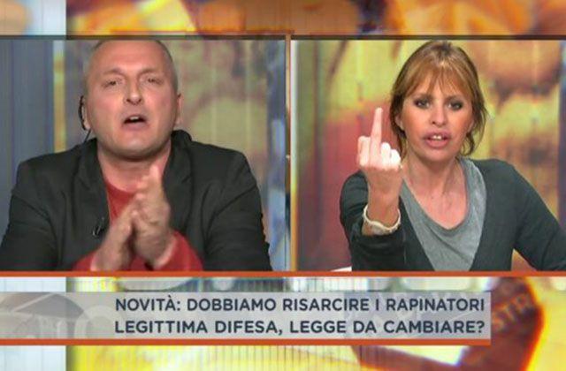 Alessandra Mussolini litiga con un blogger grillino a Dalla Vostra Parte