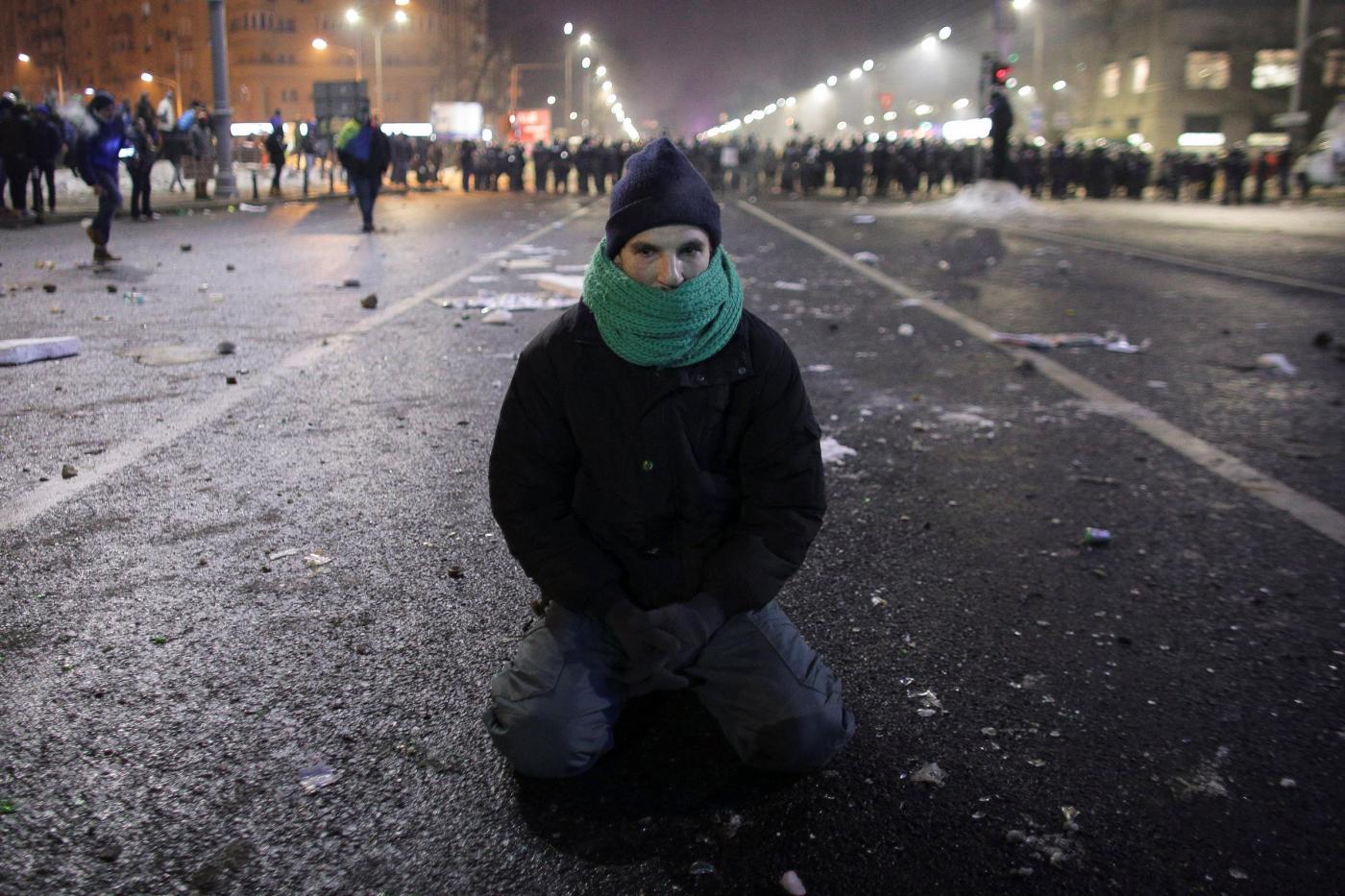 Bucarest, tensioni tra polizia e manifestanti
