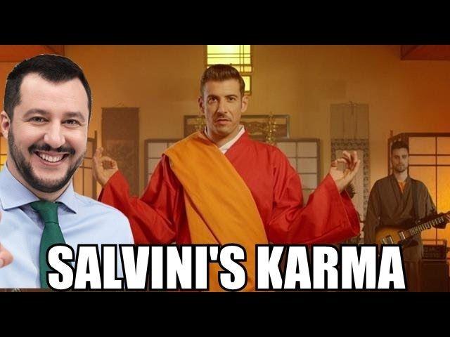 Matteo Salvini canta Occidentali's Karma (parodia)