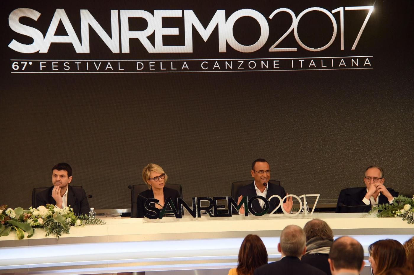 Sanremo, conferenza stampa del 67mo Festival della Canzone Italiana