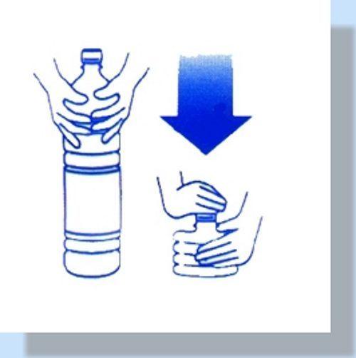 schiacciare bottiglia