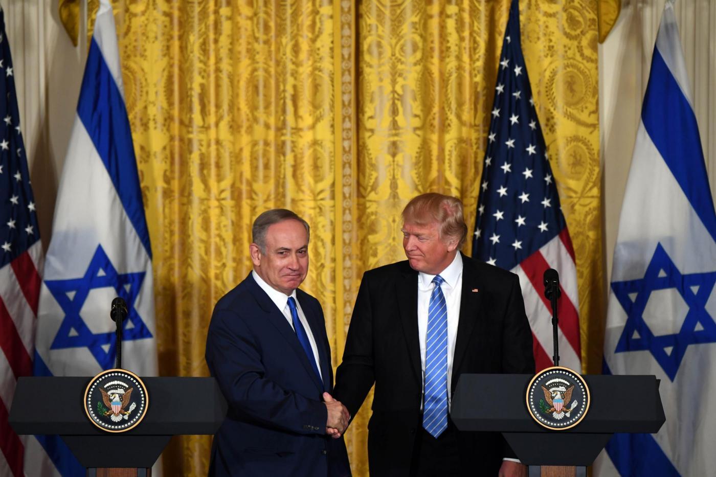 Usa, incontro Trump Netanyahu alla Casa Bianca