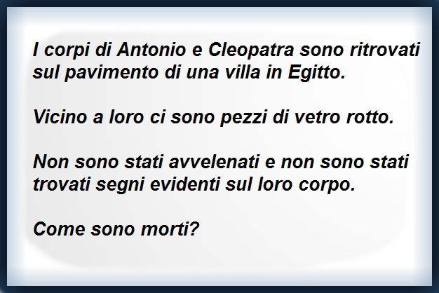 INDOVINELLO di Antonio e Cleopatra