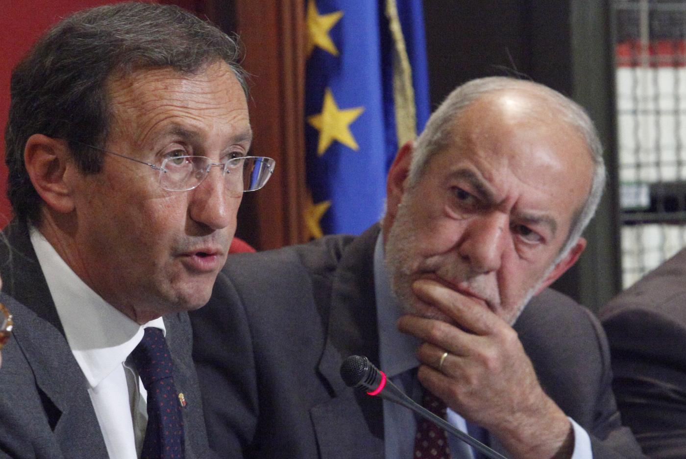 Mauro Capanna e Gianfranco Fini
