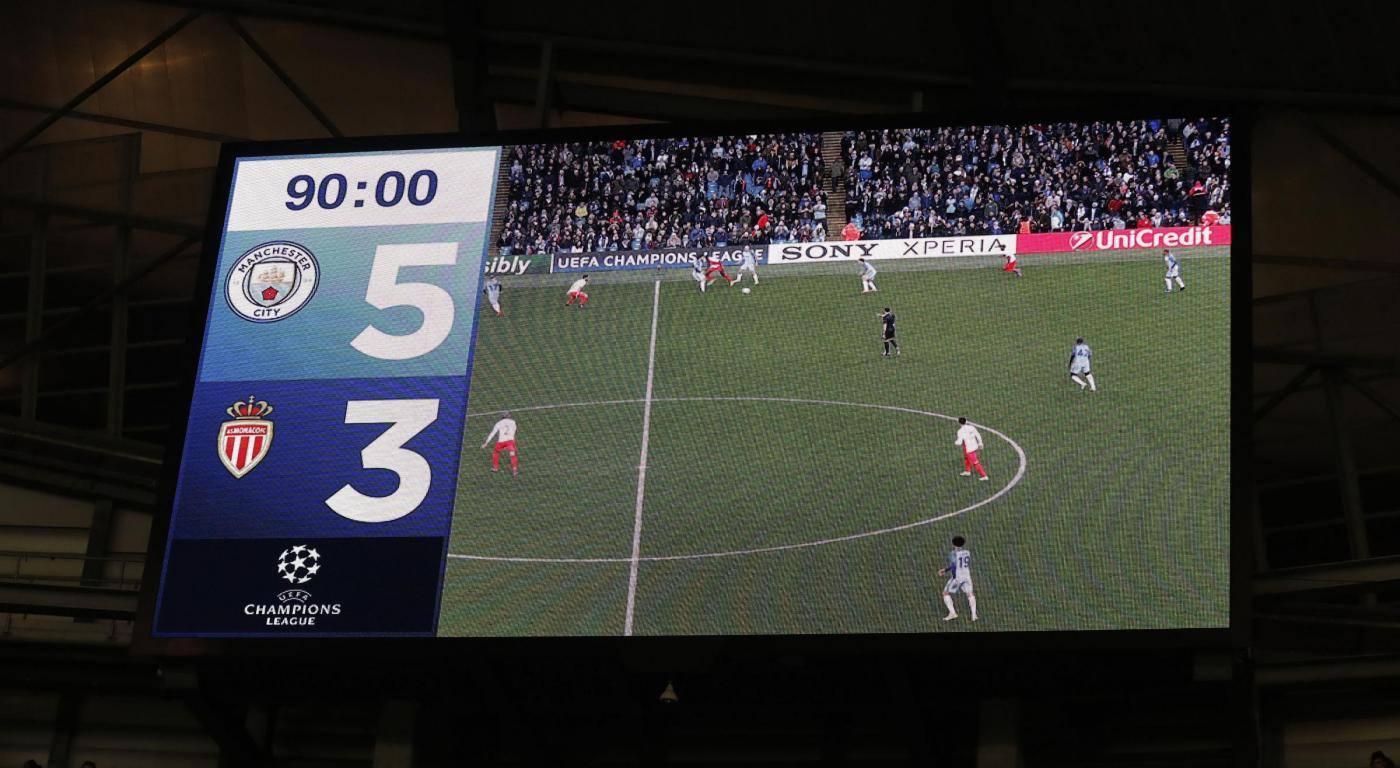 Manchester City v AS Monaco UEFA Champions League Round of 16 First Leg Etihad Stadium