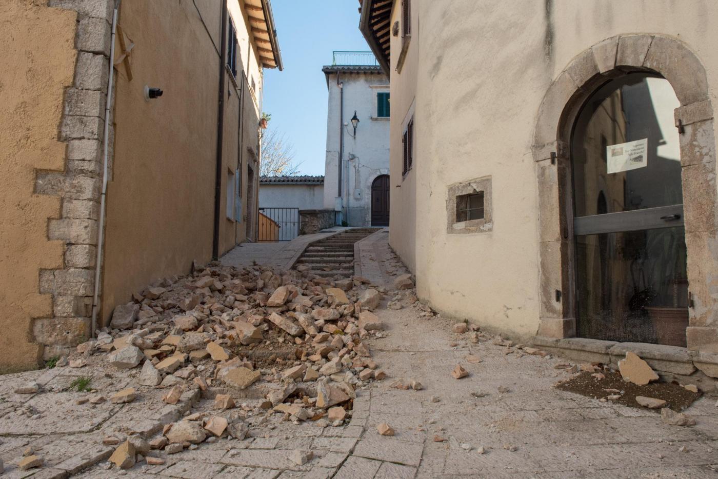 Preci, la zona rossa dopo il sisma