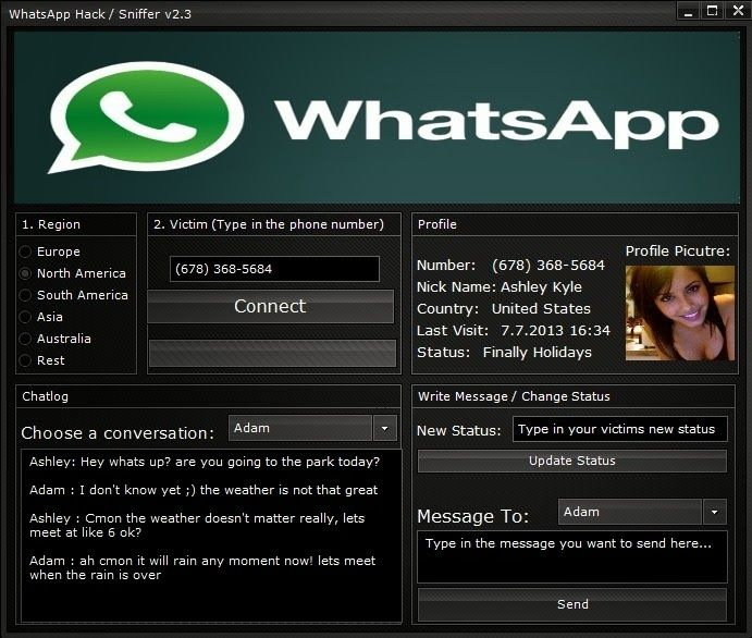 spiare whatsapp sniffer