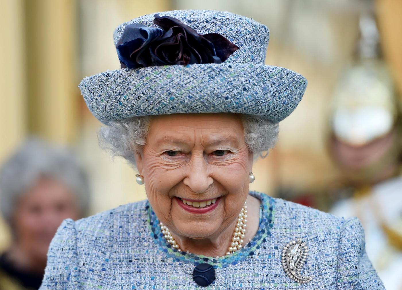 Londra, la regina Elisabetta II e il Duca di Edinburgo in visita al museo nazionale militare
