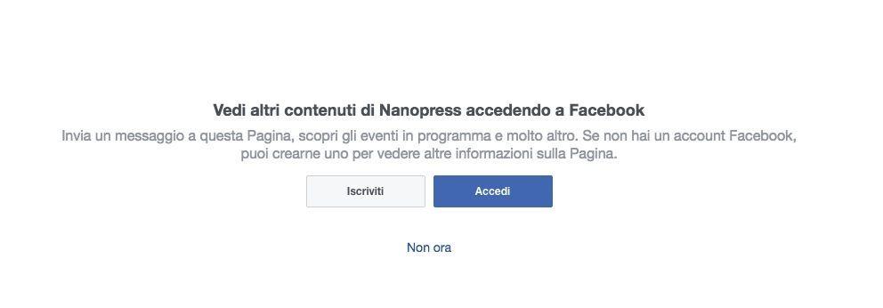 usare facebook senza registrarsi come visitatore